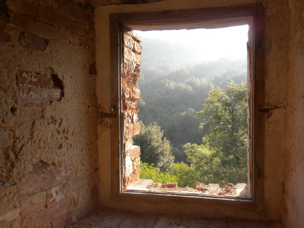 A View from The Castle Only God Knows in Tuscany