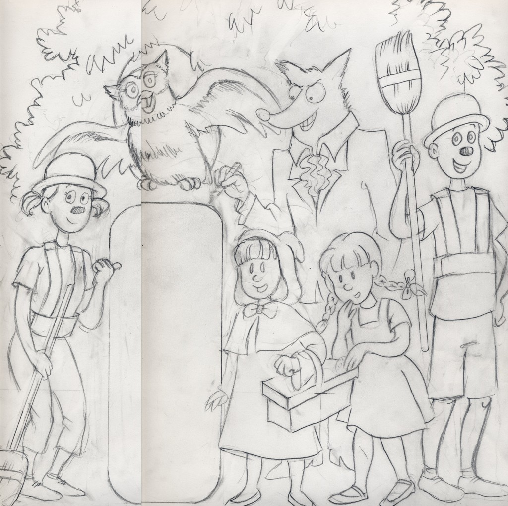 A sketch for the DreamRider Theatre comic book