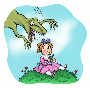 Little Miss Muffett vs a Raptor